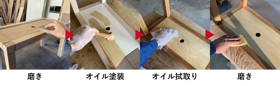 トレーニングベンチ制作工程